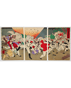 The Great Victory at the Battle of Asan, Sino-Japanese War, Meiji Era