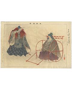 Kogyo Tsukioka, Kurumazo, Pictures of Noh
