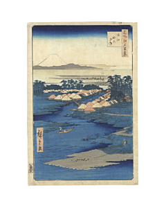 hiroshige I utagawa, Horie and Nekozane, one hundred famous views of edo, mount fuji