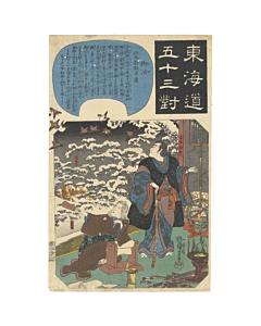Kuniyoshi Utagawa, Goyu, Travel, Fifty-three Parallels for the Tokaido Road
