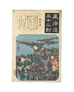 kuniyoshi utagawa, chiryu, Fifty-three Parallels for the Tokaido Road