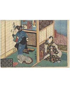 toyokuni III utagawa, Kabuki Play, Ashiya Doman Ouchi Kagami