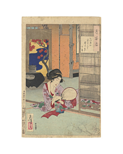 Yoshitoshi Tsukioka, Beauty, Tatami Mats, One Hundred Aspects of the Moon