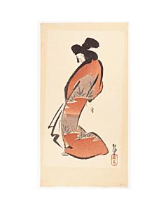 Mokuchu Urushibara, Dancing Girl designed by Masayoshi Kitao, Beauty