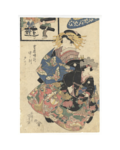 Kunisada I Utagawa, Courtesan from Yoshiwara