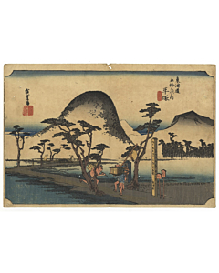 hiroshige ando, Hiratsuka, Nawate Road, The Fifty-three Stations of the Tokaido 東海道五十三次