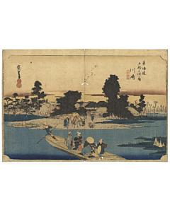 hiroshige ando, kawasaki, Fifty-three Stations of the Tokaido 東海道五十三次, japan travel