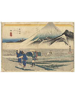 hiroshige ando, Hara, Mount Fuji in the Morning, The Fifty-three Stations of the Tokaido(東海道五十三次)