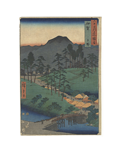 hiroshige I utagawa, Iga Province, Ueno(伊賀 上野), Famous Views of the Sixty-odd Provinces(六十余州名所図会)