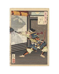 yoshitoshi tsukioka, The Moon of Yamaki Mansion, one hundred aspects of the moon
