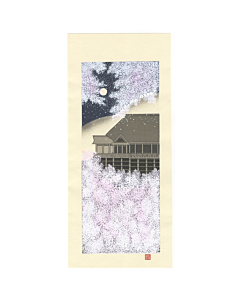 Teruhide Kato, Temple Cherry Blossoms, Kiyomizu-dera, Contemporary Art