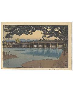 Hiroshi Yoshida, Seta Bridge, Kansai District, Shin-hanga Landscape