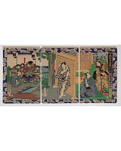 kuniteru II utagawa, kabuki, yoshitsune