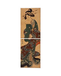 shunsen katsukawa, courtesan, kimono