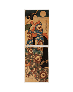 Toyokuni II Utagawa, Beauty, Snow, Moon and Flowers of the Floating World