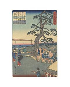 hiroshige II utagawa, famous places in edo