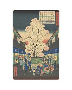 hiroshige II utagawa, yoshiwara, edo landscape