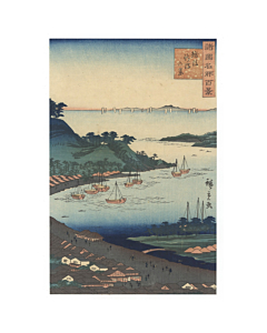 Hiroshige II Utagawa, View of Niigata, Famous Views in the Various Provinces