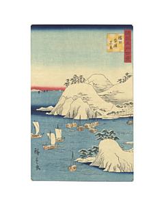 hiroshige II utagawa, snow landscape