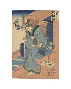 kunisada I utagawa, beauty print, kimono