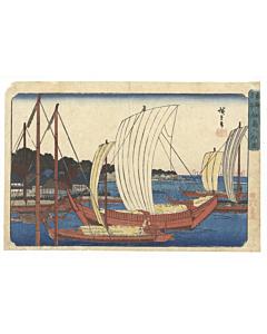 hiroshige ando, tsukuda island, landscape, edo