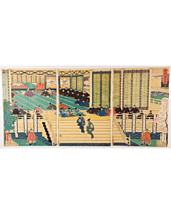 hiroshige II Utagawa, lord yoritomo, imperial court