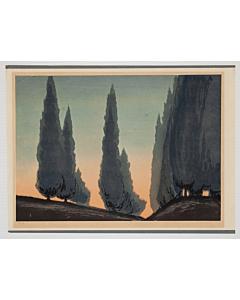 Mokuchu Urushibara, Dawn, Landscape Print