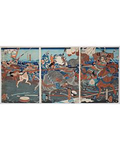 yoshitoshi tsukioka, battle of anegawa, warrior, samurai