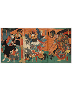 Kuniyoshi Utagawa, Kabuki Play, Sanshodayu, Traditional Theatre