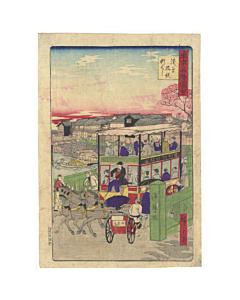 hiroshige III utagawa, asakusa, famous places in tokyo