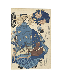 Sencho Teisai, Courtesan Nagao from Tea House Owari-ya