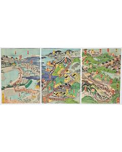 yoshitoshi tsukioka, map from nagoya to osaka