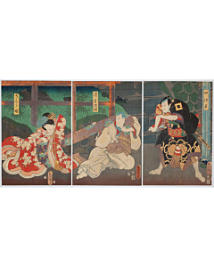 toyokuni III utagawa, kabuki play, edo period