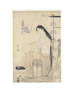 eishi chobunsai, beauty, edo, waka poem