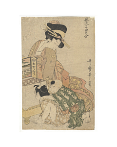 utamaro kitagawa, optic picture, children, beauty, edo era