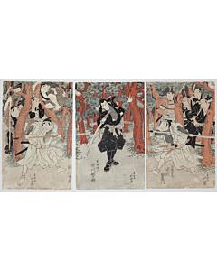 Hokushu Shunkosai, kabuki actors, osaka-e