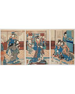 Kunihiko and Kuniteru Utagawa, Modern Beauties Gathering