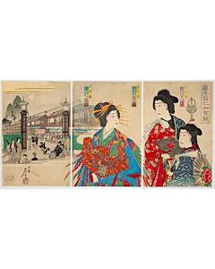 nobushige, kabuki performance, theatre play, kimono design