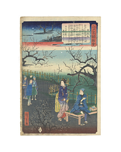 Hiroshige II Utagawa, Umeyashiki, Views of Famous Places in Edo