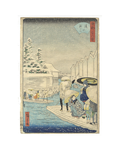 hiroshige II utagawa, snow scene, Thirty-six views of the Eastern Capital