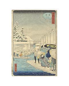 Hiroshige II Utagawa, Yoroi no Watashi, Thirty-six views of the Eastern Capital