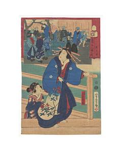 yoshitora utagawa, courtesan, twelve hours