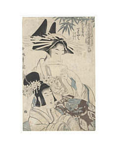Hakuga Koikawa, Courtesan from Daimonji Tea House, Edo Beauty