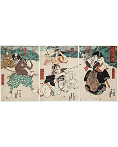 toyokuni III utagawa, kabuki play, traditional theatre