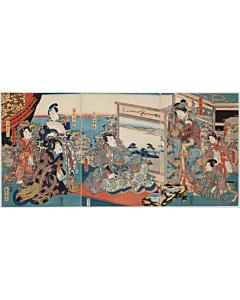 Toyokuni III Utagawa, Kabuki Play, Prince Genji, Traditional Theatre