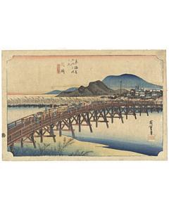 hiroshige I utagawa, okazaki, tokaido road