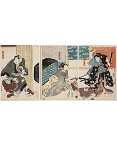 toyokuni III utagawa, kabuki theatre, actors