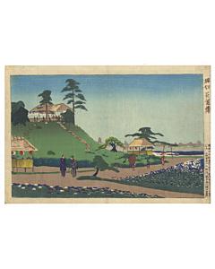 kiyochika kobayashi, Iris Garden at Horikiri, landscape