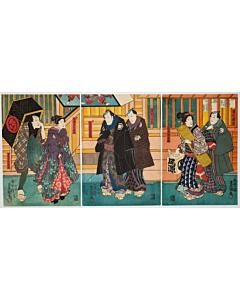 toyokuni III utagawa, kabuki actors, edo theatre
