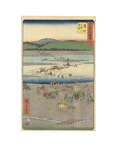 hiroshige ando, tokaido road, landscape, japan travel